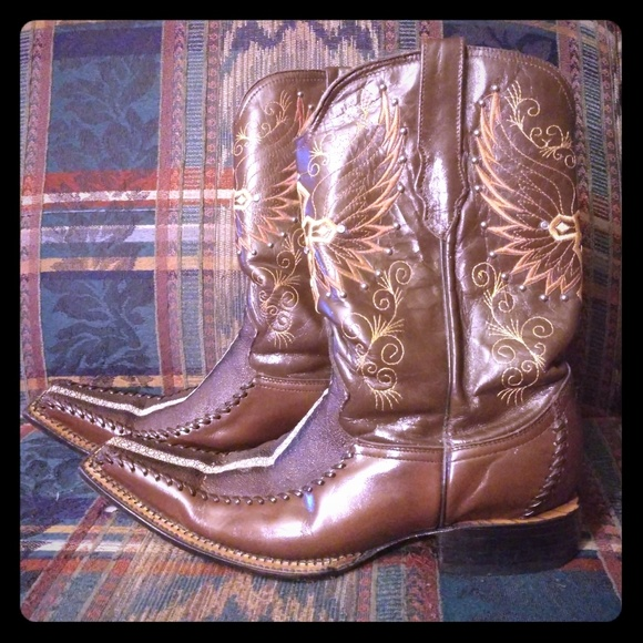 86a4560617c El General Men's Exotic Stingray Cowboy Boots, 9.5